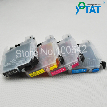 1 Unidades + tinta completo lc565 lc567 cartucho de tinta recargable para brother mfc-j2310 mfc-j2510 mfc-j3520 mfc-j3720