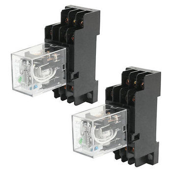 2 unids HH53P 24VDC Control de Motor 11 Pin 3NO 3NC Power Relay w Base Socket envío gratis
